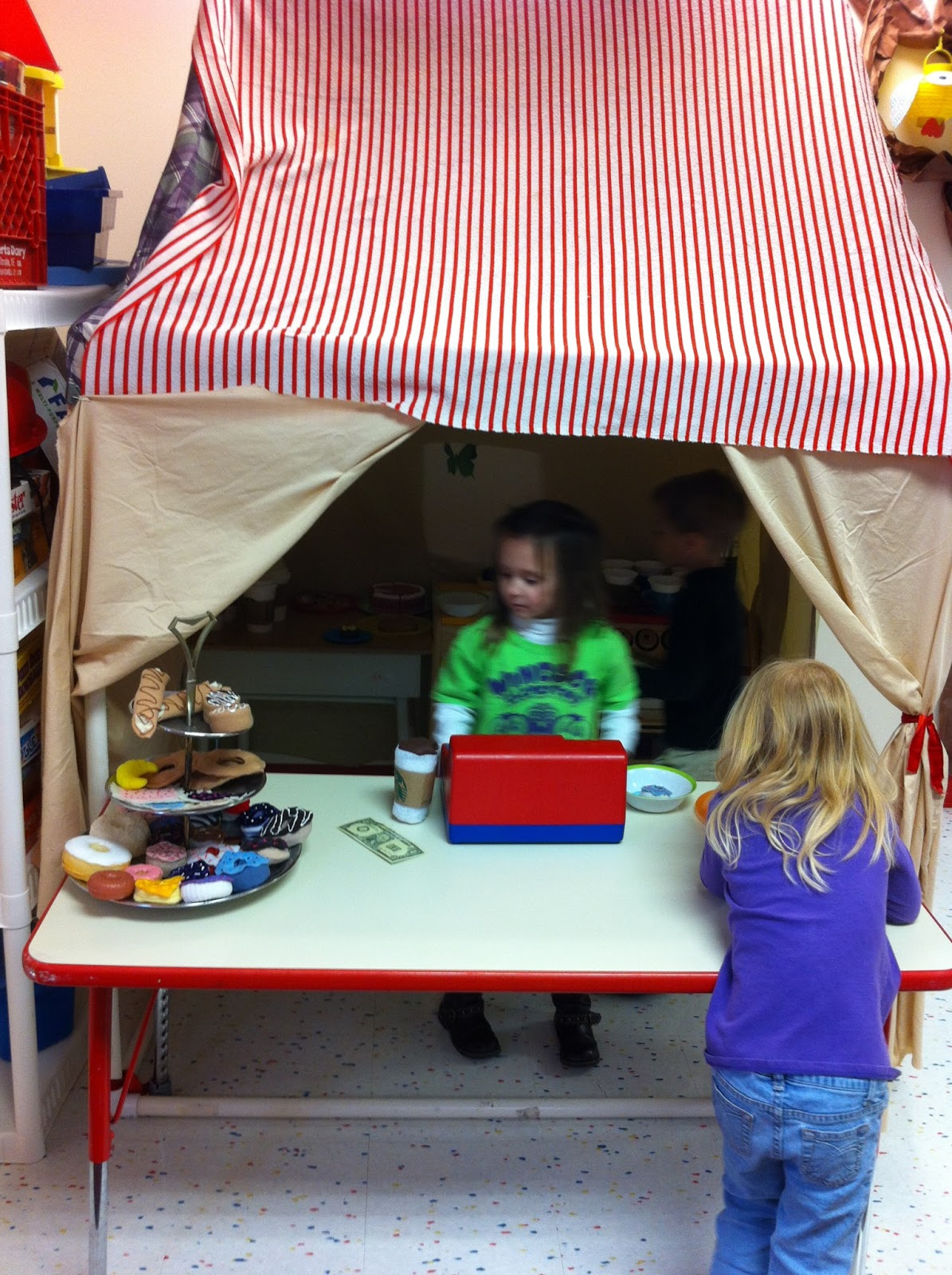 Kiddos, Crayons, and Caffeine!: Coffee Shop Dramatic Play area