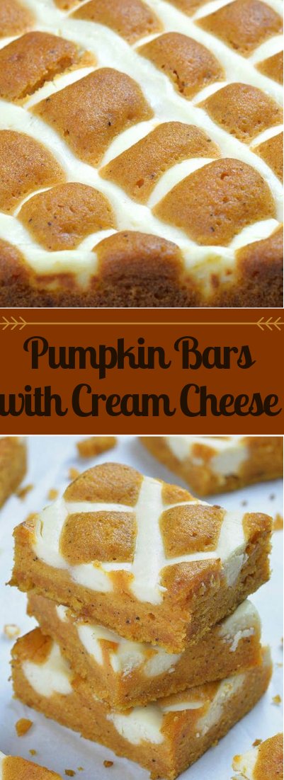 Pumpkin Bars with Cream Cheese