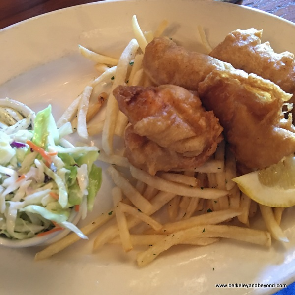 halibut fish & chips at Up & Under Pub and Grill in Pt. Richmond, California