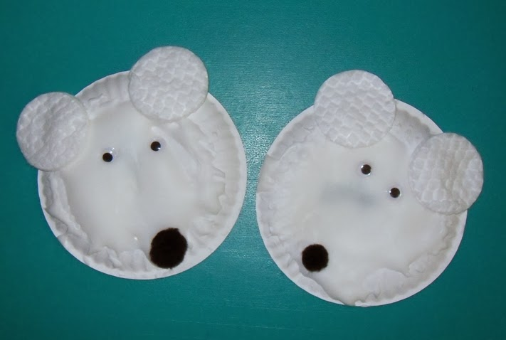 Polar Bear Paper Plate Craft - Paper Crafts Ideas for Kids