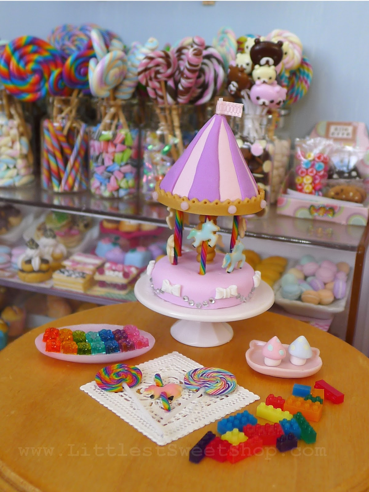 Littlest Sweet Shop Commission Update Carousel Cake And Candy