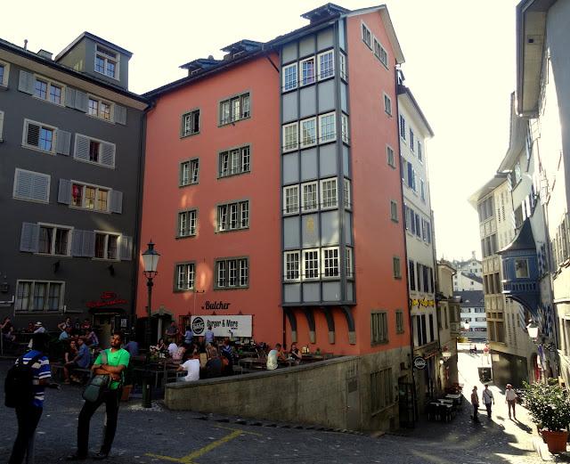 Stussihofstatt square Niederdorf Quarter, Zurich Old Town
