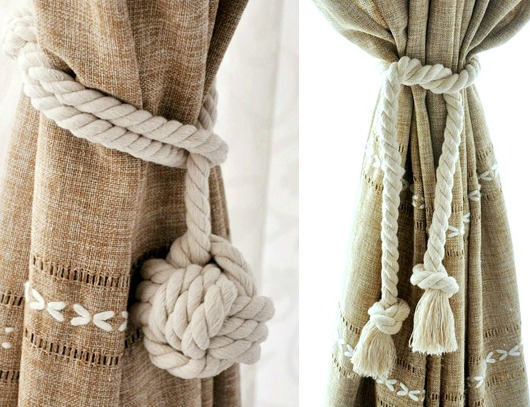 Curtains Ideas curtain holdback ideas : Nautical Curtain Tie Back Ideas | Shop the Look - Completely Coastal