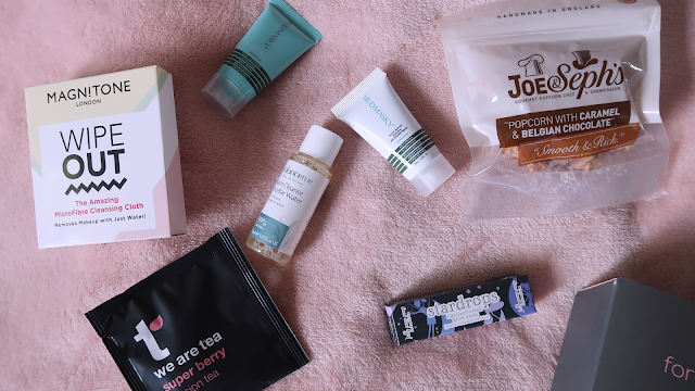 pink parcel for you products laid out