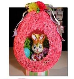 Canasta Para Huevos Manualidades.Como Hacer Una Canasta De Huevos De Pascua Con Cuerdas