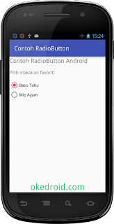 Hasil RadioButton Android