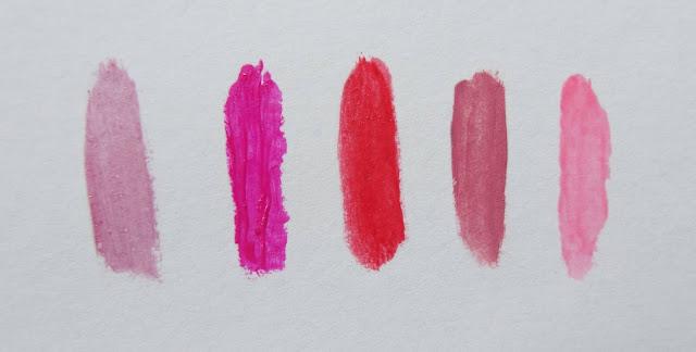 Lippenstiftswatches auf Papier - MissNemou