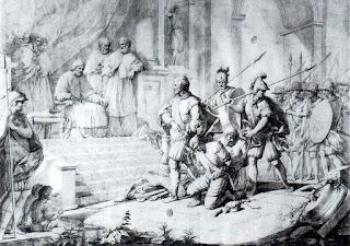 El Gran Capitán ante el Papa Alejandro VI