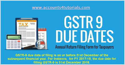 what is due date for filing gstr 9