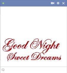 Good Night Sweet Dreams Emoticon