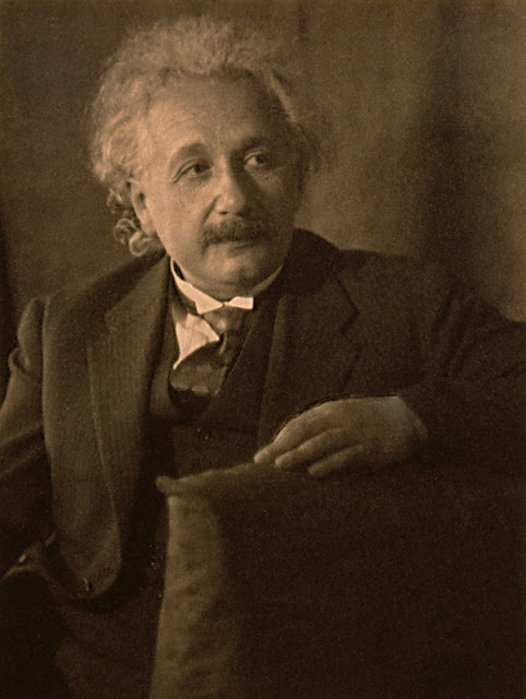 Photograph of Einstein