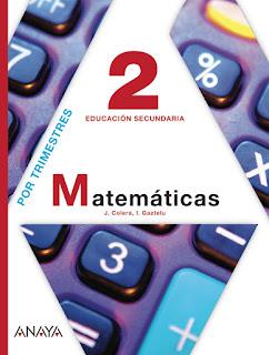 Libro Matemáticas 2º ESO Anaya