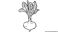 beet clipart black and white