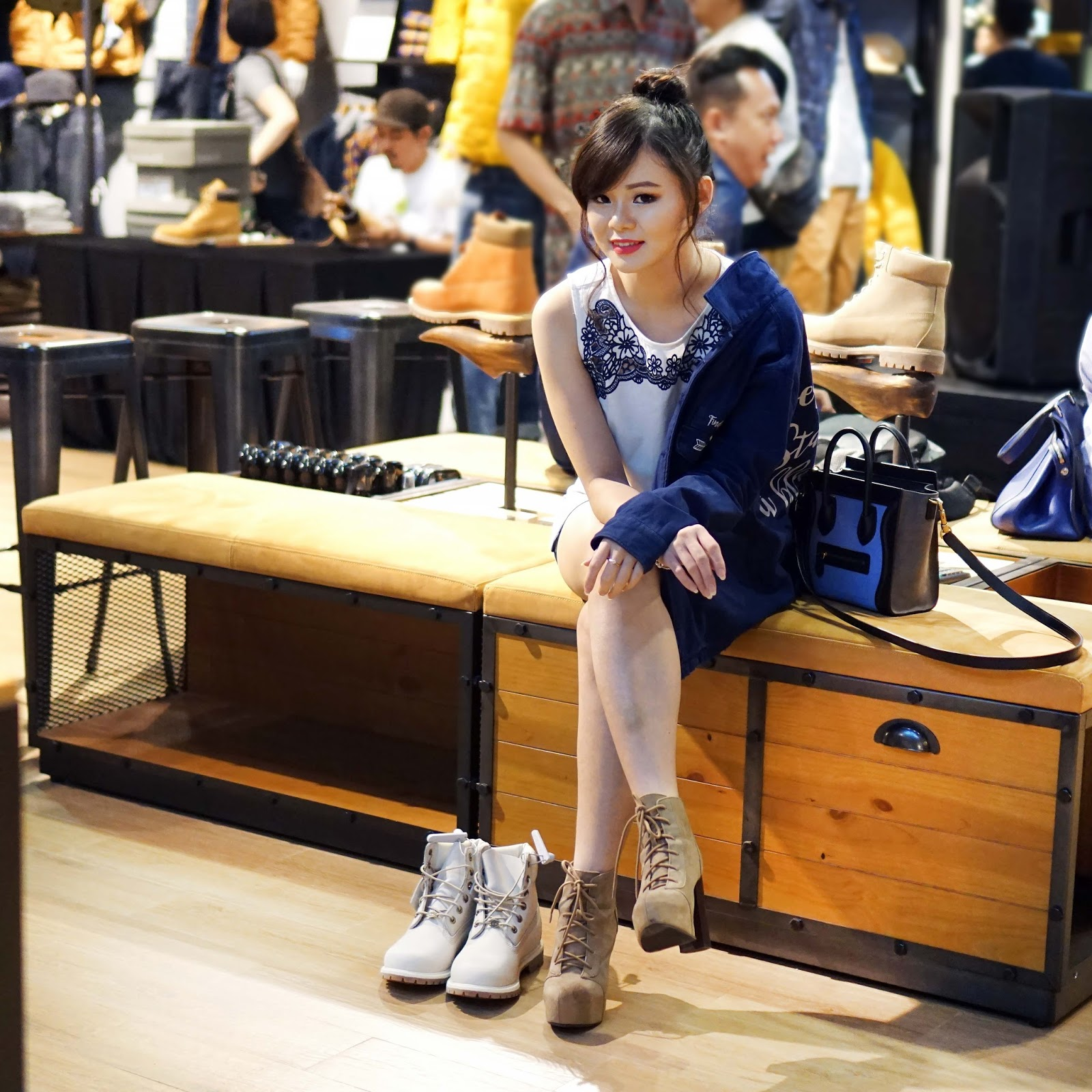 fashion, style, fashion 101, how to, how to fashion, tips fashion, fashion blogger, fashion blogger indonesia, timberland, timberland pacific place, streetstyle, jean milka ootd