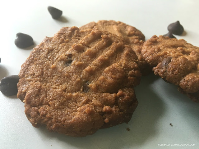 Flourless Four Ingredient Peanut Butter Cookies - A Glimpse of Glam Andrea Tiffany