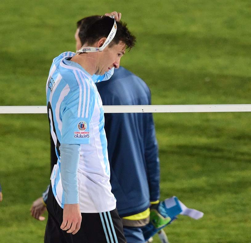 Messi after final of Copa America 2015 match