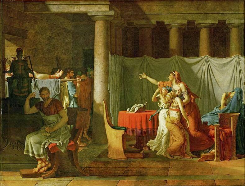 Trazendo para Brutus os Corpos de seus Filhos - David, Jacques-Louis e suas principais pinturas ~ Representante do neoclassicismo