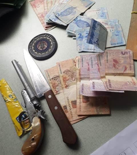 Polícia prende homem por porte ilegal de arma de fogo, em Presidente Jânio Quadros