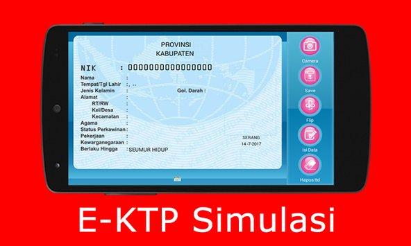 Download Simulasi E-KTP APK For Android (Untuk Membuat Fake KTP)