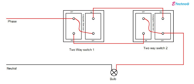 How to make two way switch using one way switch
