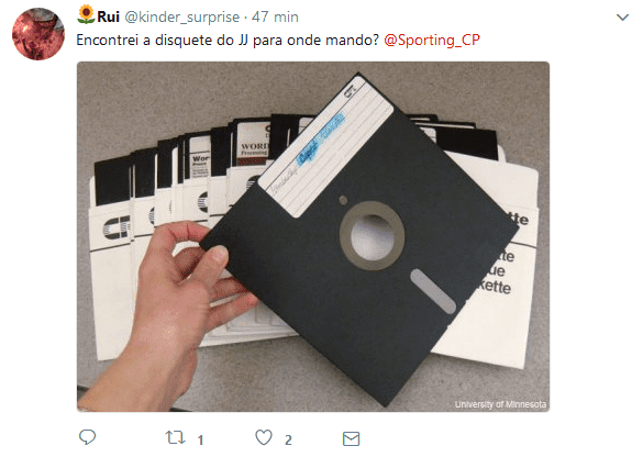 A disquete do JJ