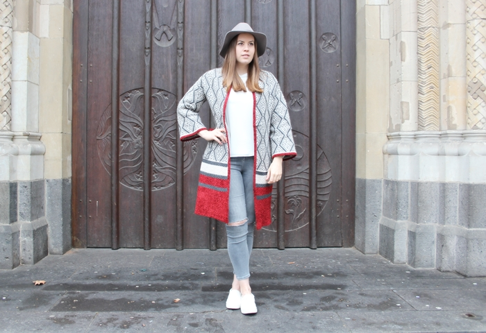 Oversize Cardigan, Zara Cardigan, Print Cardigan, Wollhut, H&M Wollhut, grauer Hut, La Mode et Moi, Modeblog, Modeblog Köln, Fashionblog Cologne, Fashionblog Köln