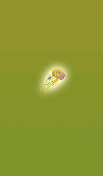 Water color yellow jellyfish