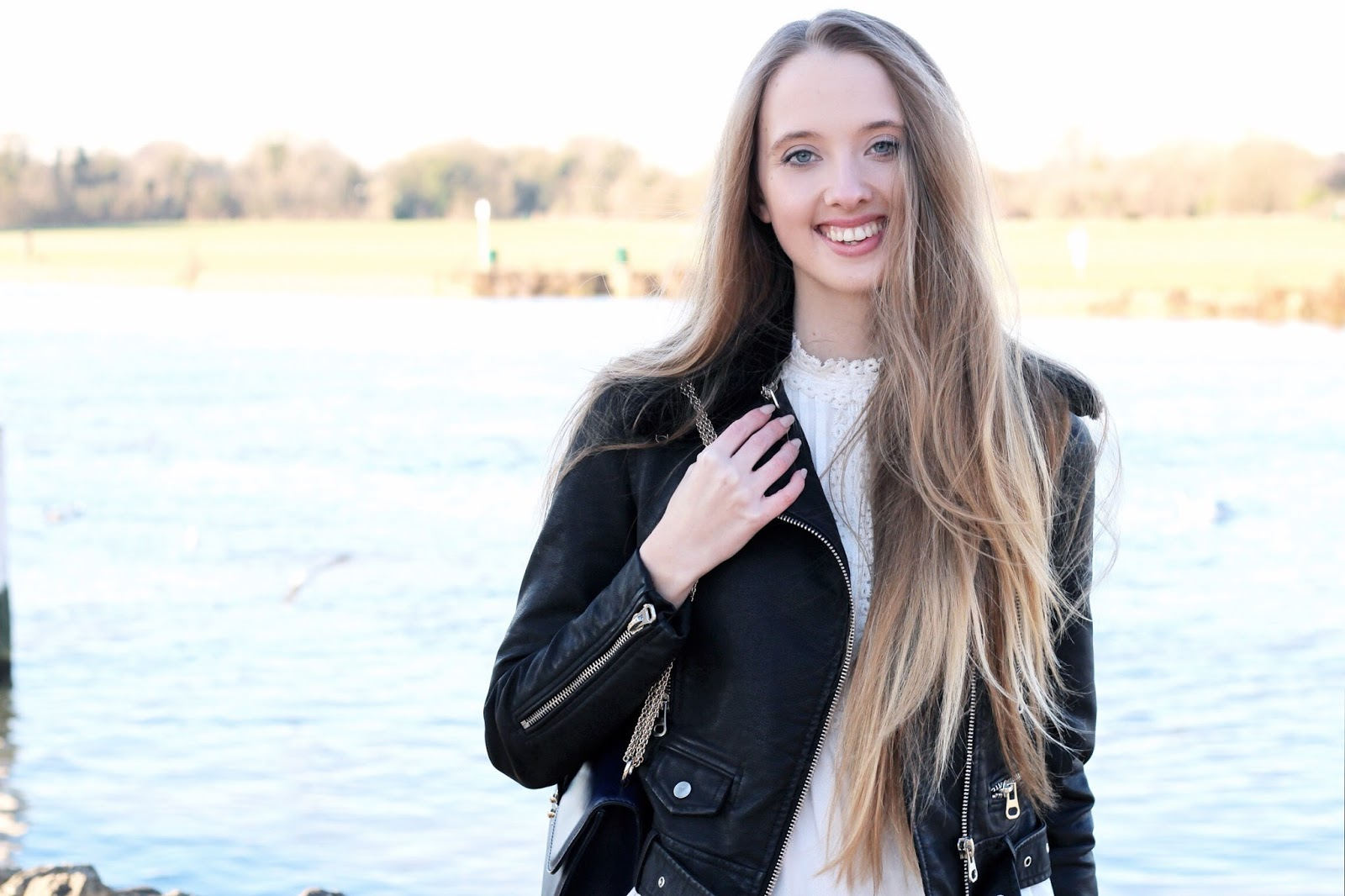 Styling a leather jacket in winter