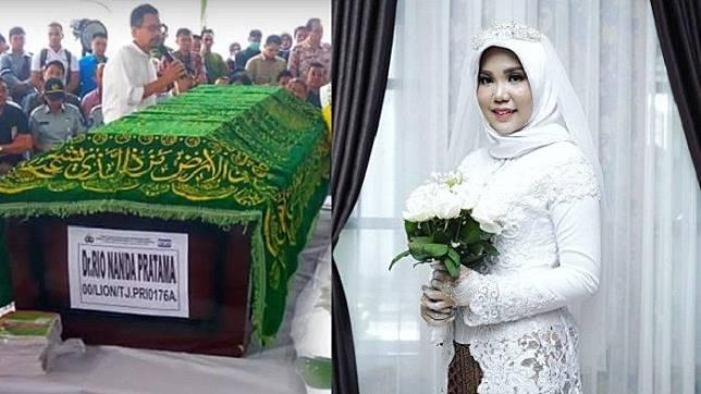 Seharusnya Nikah Kemarin, Pacar Korban Lion Air JT 610 Tetap Pakai Baju Akad Meski tanpa Calon Suami