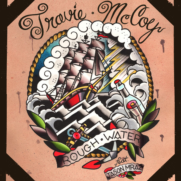 Travie McCoy - Rough Water (feat. Jason Mraz) - Single Cover