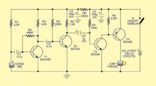 Hearing aids circuit schematics