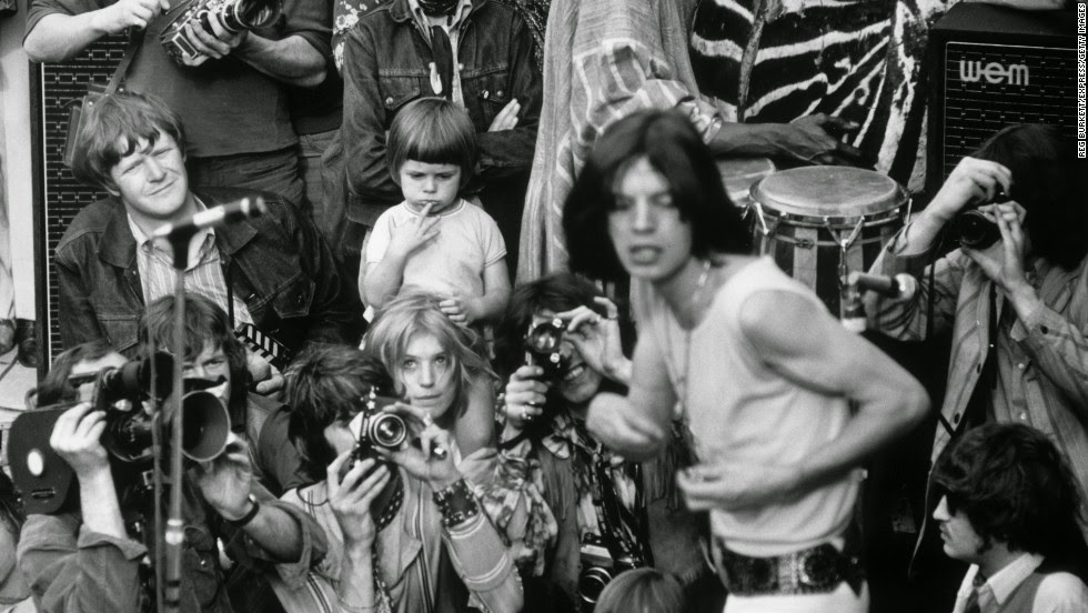 Black And White Photographs Of The Rolling Stones Live In