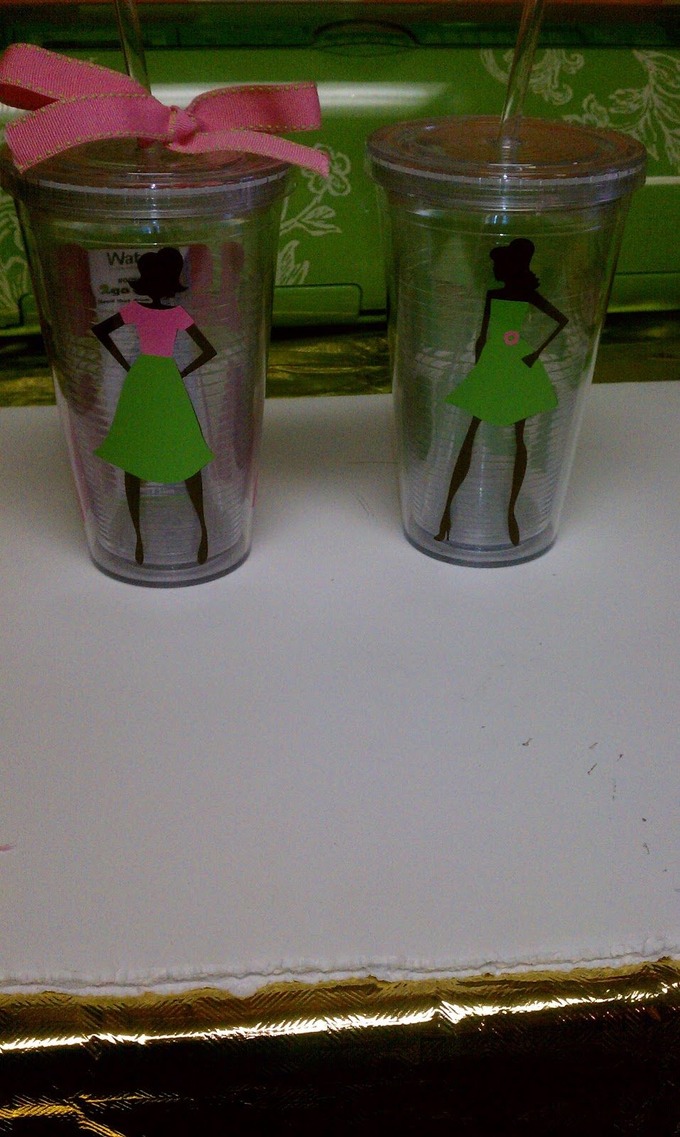 She S A Sassy Lady Vinyl Plastic Cups
