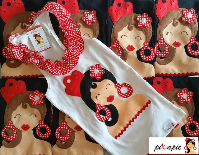Camisetas despedida flamenca amigas y novia Pikapic