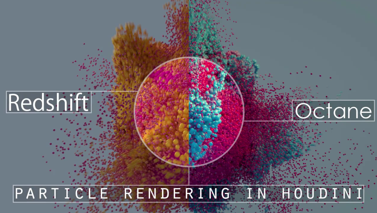 Houdini Particle Rendering with Redshift & Octane | CG TUTORIAL