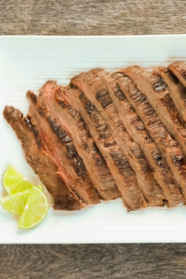 Marinated Carne Asada is a favorite on the grill for Cinco De Mayo from Serena Bakes Simply From Scratch.