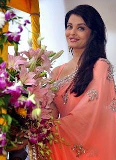 Aishwarya Rai Pink Saree 2