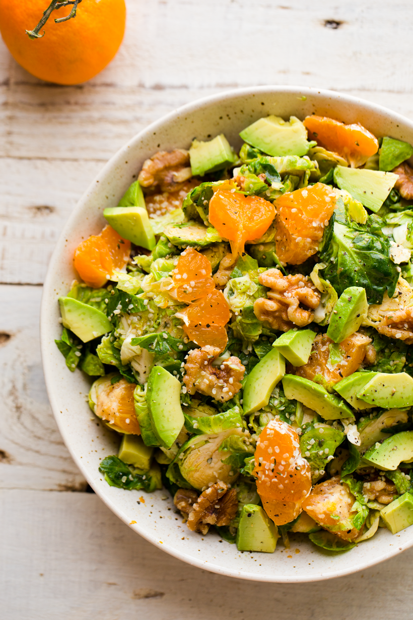 holiday salad with brussels sprouts