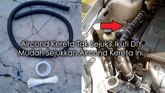 Cara Mudah Sejukkan Aircond Kereta