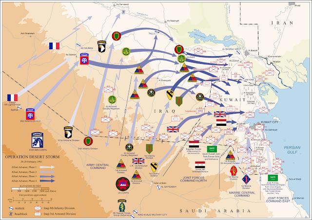 Ο χερσαίος ελιγμός της Συμμαχίας στην επιχείρηση «Desert Storm»