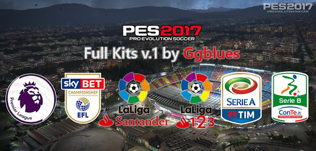 PES 2017 Full Kits v1 by Ggblues