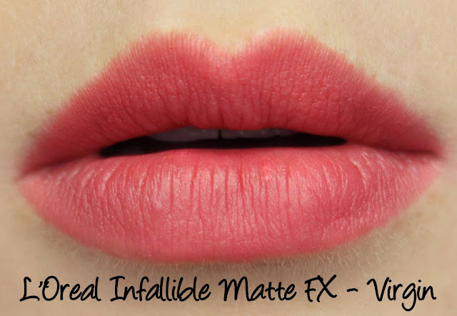 L'Oreal Infallible Matte FX - Virgin Swatches & Review