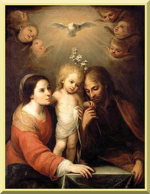"""Holy Family"" -- by Juan Simón Gutiérrez - PD-1923"