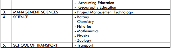 Five O Level Requirements (WAEC/NECO/NABTEB) and Four UTME Subject Combinations.