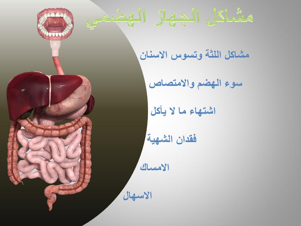 الحقيقة مشاكل الجهاز الهضمي