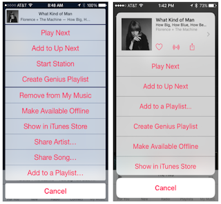iOS 9: Apple changes Design and Navigation at Apple Music