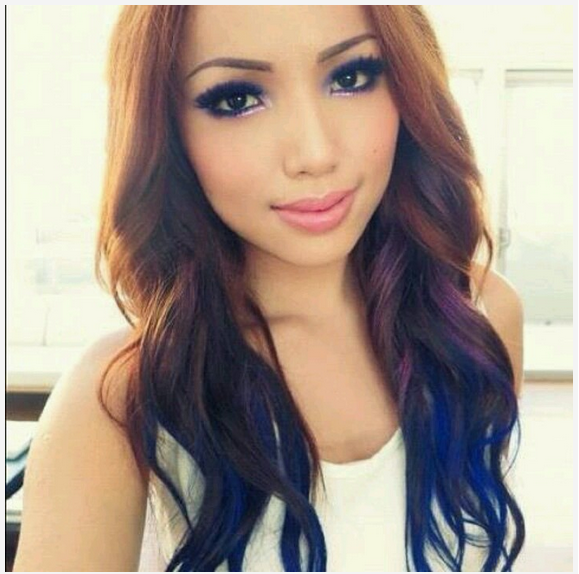 Ombre Hair Color Model With Long Hair 2015 2016 Hairstyle And