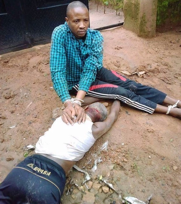 mad man kills father with shovel imo state