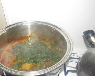 Pot of afang soup base