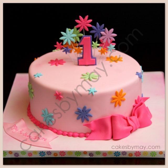 Girly Wild One Layer Cake